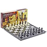 WAGA Schachspiel Folding Magnetic Travel Chess Set, Kunststoff International Chess, Geschenk for...