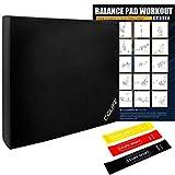 CCLIFE Balance Pad 50x40x6 mit Latexbänder Übungsposter Balanceboards Gleichgewicht Trainer...