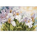 xinmeng Weiße Iris-Muster Kreuzstich 11CT 14CT 18CT DIY chinesischen Stickpackungen Stickhandsets...