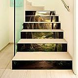 WYHYQY 3D Treppenaufkleber — PVC Selbstklebende Wandaufkleber, Treppenhaus Dekoration Aufkleber...