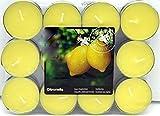 24 Citronella Duftlichter Zitrone Teelichter Outdoor Brenndauer Ca. 4h Anti Mücken Kerzen Auch Für...