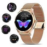 Smartwatch Damen,[elegant&stilvoll]Smartwatch Bluetooth Fitness Tracker mit IP68...