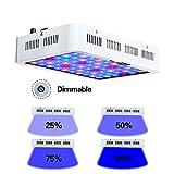 Qnlly Aquarium Llight 180w Dimmbare LED-Aquarium beleuchtet Coral Lampe für Marine Aquarium Dimmer...