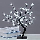 Baumbeleuchtung, warmweiße Tischlampe, 18-Zoll-Kirschblüte 48 LED Kristallblumenlicht, dekorative...