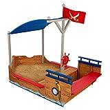 KidKraft 128 Piratenschiff Sandkasten, Naturfarben