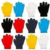 Keriber Jungen Handschuhe Gr. Medium, Black, Gray, Red, Blue, Yellow, White