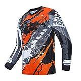 Weimostar Cycling Jersey Herren Mountainbike Motocross Jersey Langarm MTB T-Shirt Downhill Tops...