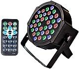 U`King Scheinwerfer PAR Licht mit Fernbedienung 36 LED Bühnenbeleuchtung DMX512 RGBW Lichteffekt...