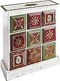 Mehrzweckschrank indische Kommode Schrank 9 Schubladen Stauraumschrank Mangoholz Vintage Look