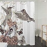 Duschvorhänge, Textil Bad Vorhang aus Polyester, Anti-Schimmel, Spa, Fernost Nah am Herzen...