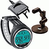 Cressi Giotto Dive Computer, Scuba Diving Instrument Black/Grey w/Download Cable and Watch Stand