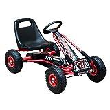 HOMCOM Go Kart Kinderfahrzeug Tretauto mit Pedal Bremsen Kinderspielzeug für 3-8 Jahre Gummiräder...