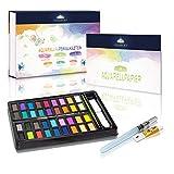 GOLDECKT ® Aquarellfarbmalkasten – Hochwertiges Aquarell-Farben-Set mit [36] Wasserfarben –...