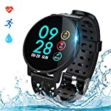 COULAX Smartwatch Fitness Armband Uhr IP67 Wasserdicht 1,3 Zoll Uhr Voller Touch Screen Fitness...
