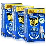 3 x Raid® Nachfüller für Mücken-Stecker/ gegen Mücken und Tigermücken/3 mal für 45 Nächte x...