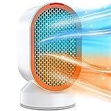 Heizlüfter, 600W elektrische Heizung mit Fast Hitze, Überhitzen und Kippschutz, Zwei Windmodi für...