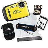 1A PHOTO PORST Jubiläumsangebot Fujifilm Finepix XP130 Outdoor-Kamera Gelb Digitalkamera+16 GB SD...
