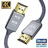 Snowkids 4k Hdmi Kabel 2m,Ultra Highspeed 18Gbit/s Hdmi 2.0 Kabel,Ultra HD 4k 60Hz HDMI 2.0...