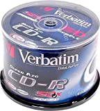 1x50 Verbatim CD-R Rohlinge, Discs, 80min, 700MB, 52x, Super AZO, Data Life Plus, Cakebox Spindel,...