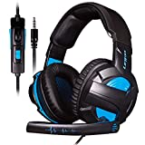 LETTON Stereo Gaming Headset für PS4, PC, Xbox One Controller, Noise Cancelling Over Ear Kopfhörer...