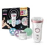 Braun Silk-épil 9 9/990 SkinSpa SensoSmart Epilierer für Damen, mit Andruckkontrolle, Wet&Dry...