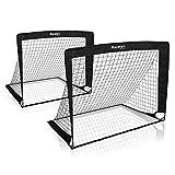 Racetex 2er Fußballtor Kinder Set - Fußball Tore inkl. nützlicher Tasche zum Transportieren -...