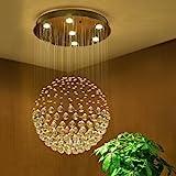 Modern Globus Entwurf Kristall Kronleuchter 6*GU10 Base Deckenleuchte für Wohnzimmer Schlafzimmer...
