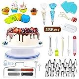 SYOSIN Tortenplatte Drehbar Tortenständer Rutschfester Kuchen Drehteller Cake Decorating Turntable,...