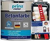 prinzcolor Premium Betonfarbe Sockelfarbe Bodenfarbe Bodenbeschichtung Set Kieselgrau 0,75l -...