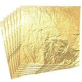 Imitation Blattgold,100 Blatt Gold Blatt Gold Leaf für DIY Vergoldung Handwerk Kunst Projekt Möbel...