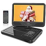 WONNIE 2021-Aufgerüstet 10,5 Zoll Tragbarer DVD Players mit 270° Schwenkbaren Bildschirm und Einer...