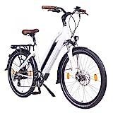 NCM Milano 48V, 26' Urban Trekking E-Bike Elektrofahrrad Pedelec, 250W 13Ah 624Wh, wei, schwarz...