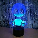 Vbnmda 3D-Illusionslampe LED-Nachtlicht Cute Panda Creative Schreibtischlampe Tischlampe 7...