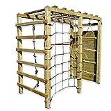 Gartenpirat Klettergerüst Premium mit Kletterwand Spielgerüst aus Holz für den Garten mit Reck...