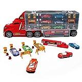Nuheby Auto Spielzeug LKW Autotransporter Transporter Spielzeug mit 6 Spielzeugauto Set...