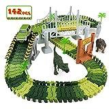 Dinosaurier Autorennbahn Rennbahn Autobahn Kinder Spielzeug ab 3 4 5 6 Jahren Junge Mdchen,142 Stck...