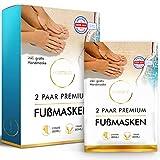 husstand Fußmaske Hornhautentferner Socken [2 Paar] - dermatologisch getestet - Anti Hornhaut...