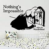 wukongsun Cartoon Nichts Unmöglich Wandaufkleber Wunderland Mädchen Schlafwandeln Wunderland...