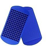 Silikon-Mini-Eiswürfelschalen, 160 kleine Eiswürfelformen Easy Release-Eiswürfel zum Abkühlen...