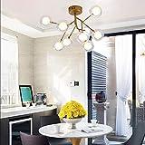 Außen Kronleuchter Nordic Modern Luxury Gold Schwarz-runde Metall Kronleuchter Wohnzimmer...