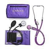 LotFancy Manuelles Blutdruckmessgerät mit Doppelkopf-Stethoskop, Aneroid Blutdruckmessgerät für...