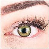 Glamlens Farbige Grüne Kontaktlinsen Mirel Green Stark Deckende Natürliche Silikon Comfort Linsen...