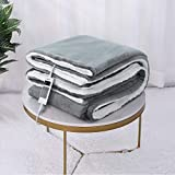 Heizdecke 130x180 cm, Elektrische Wärmedecken Heizdecken fürs Bett mit 6 Temperaturstufen,...