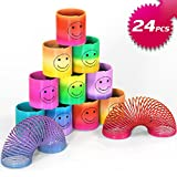 Osup 24PCS Springs Magic Rainbow, Lächeln Regenbogenkreis Regenbogen Strolche, Puzzle Lernspielzeug...