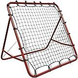 EBTOOLS Fußballnetze, verstellbare Rückprallnetze, Fußball, Kickback, Garten, Fußballtor mit 4...