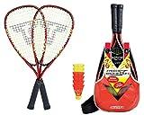 Talbot-Torro Speed-Badminton Set Speed 5000, 2 handliche Alu-Rackets 56,5cm, 6 windstabile...