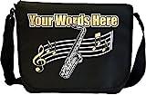 Musicalitee Saxophone Sax Tenor - Angefertigt Personalisiertes Sheet Music Document Bag Musik Noten...