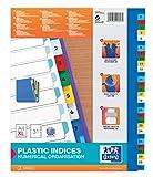 Oxford 100204822 XL Kunststoff-Register Strong-Line Zahlen 1-31 31-teilig A4 Extrabreit für die...