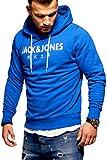 JACK & JONES Herren Hoodie Kapuzenpullover Sweatshirt Pullover Print Streetwear (X-Large, Surf The...