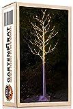LED-Baum Birke 210 cm 180 LED warm-weiß mit Timer für Weihnachten außen